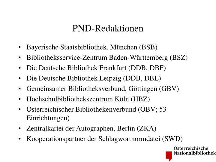 PND-Redaktionen