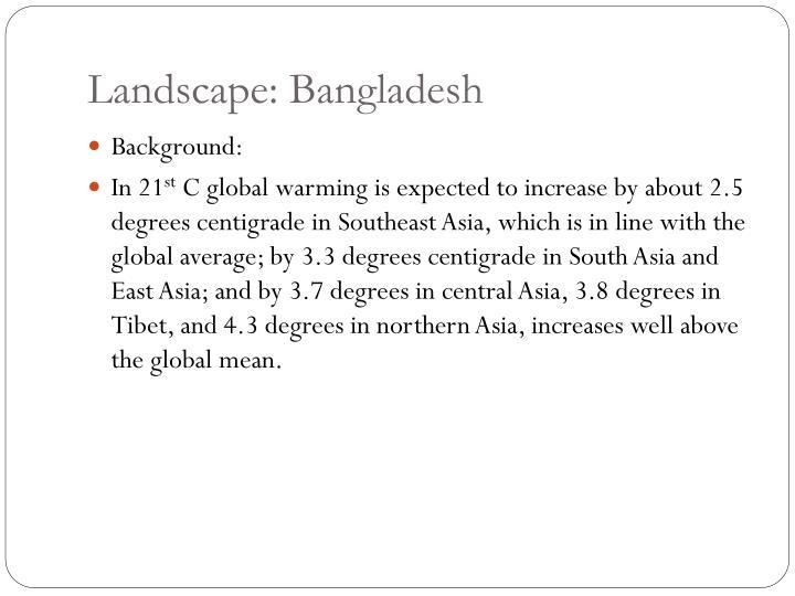 Landscape: Bangladesh