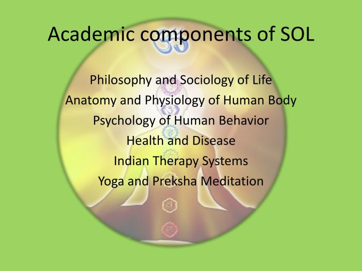 Academic components of sol