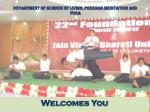 department of science of living preksha meditation and yoga
