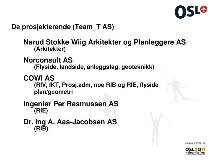 De prosjekterende (Team_T AS)
