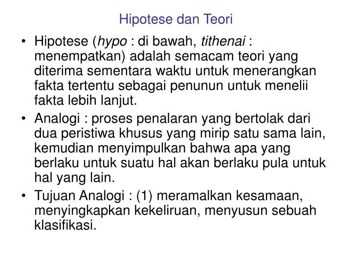 Hipotese dan Teori