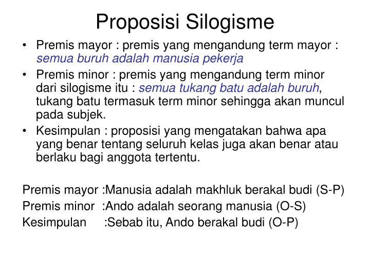 Proposisi Silogisme