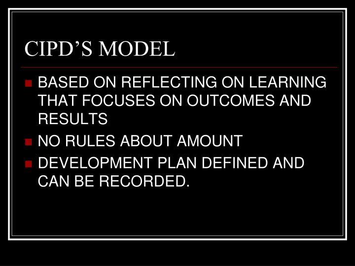 CIPD'S MODEL