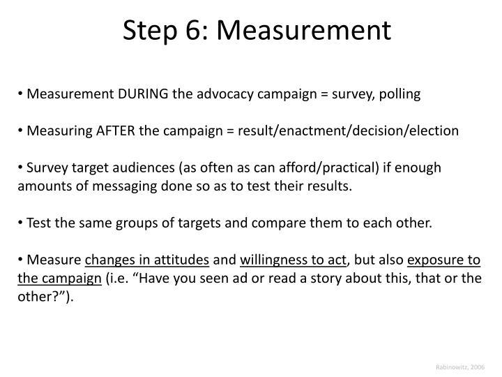 Step 6: Measurement