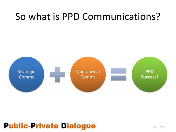 So what is PPD Communications?