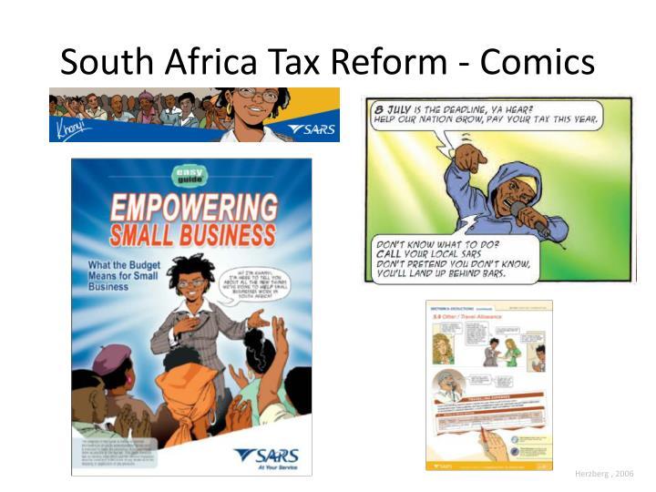 South Africa Tax Reform - Comics