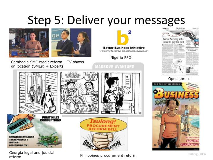 Step 5: Deliver your messages