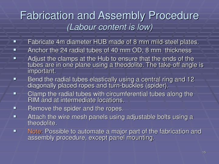 Fabrication and Assembly Procedure