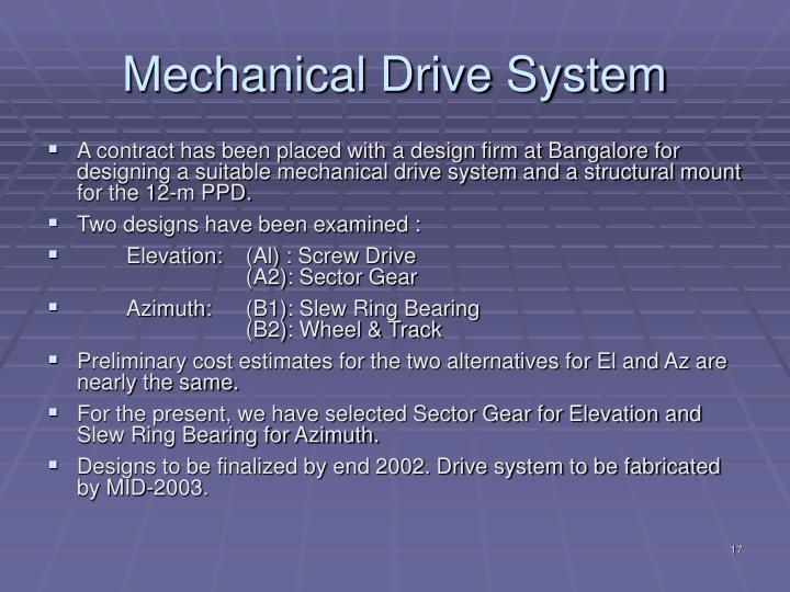 Mechanical Drive System