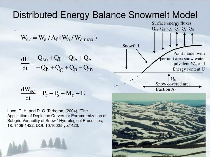 Distributed Energy Balance Snowmelt Model