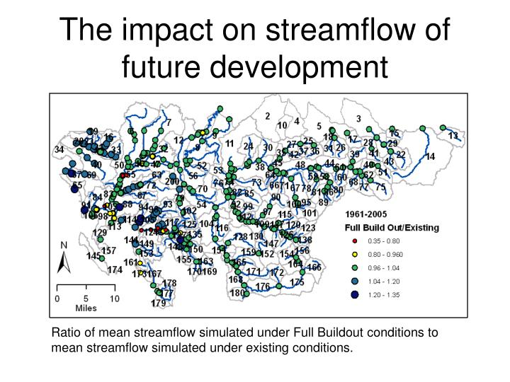 The impact on streamflow of future development