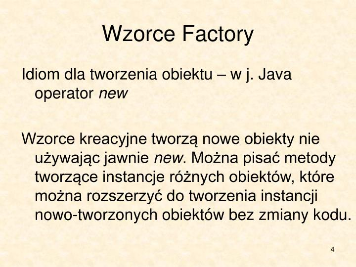 Wzorce Factory