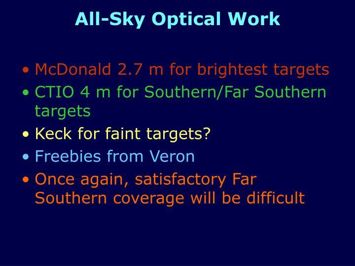 All-Sky Optical Work