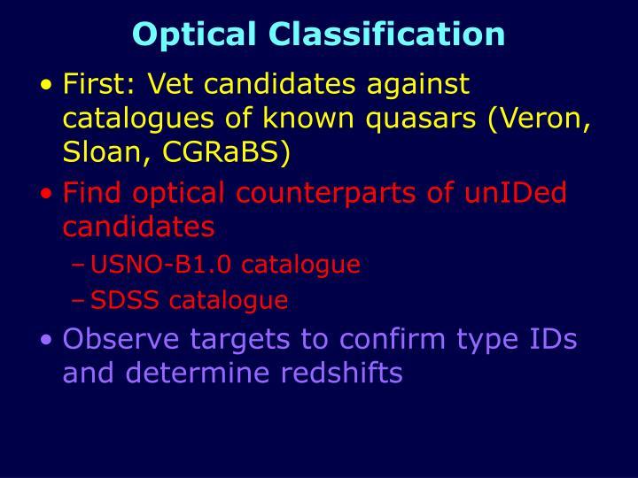 Optical Classification