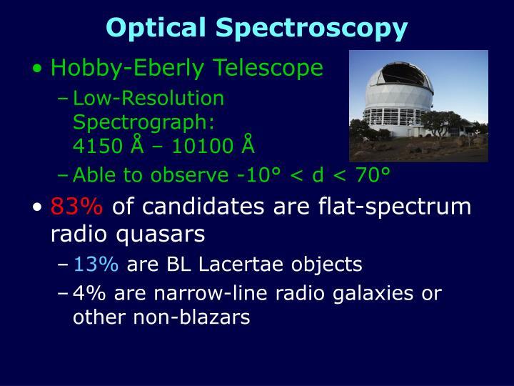 Optical Spectroscopy