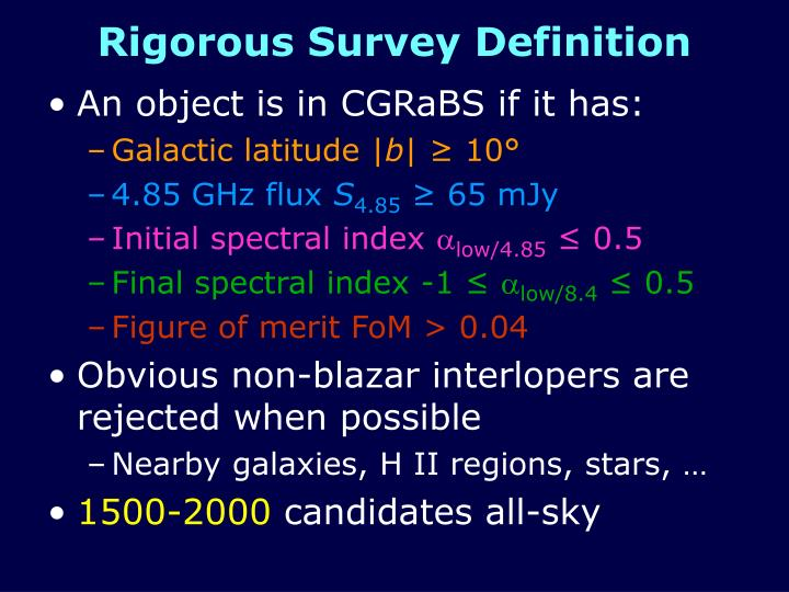 Rigorous Survey Definition