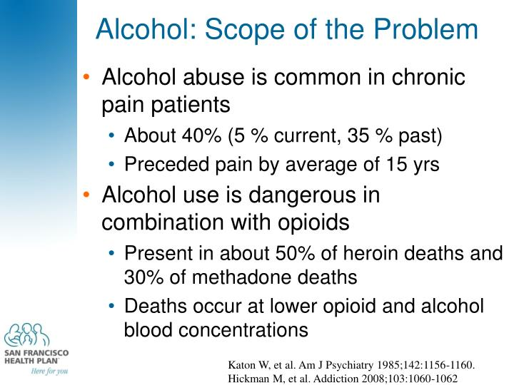 Alcohol: Scope of the Problem