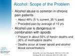 alcohol scope of the problem