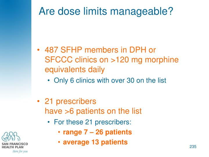 Are dose limits manageable?