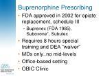 buprenorphine prescribing