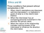 ethics and mi