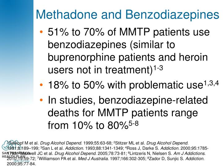 Methadone and Benzodiazepines