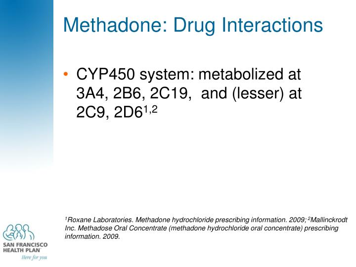 Methadone: Drug Interactions