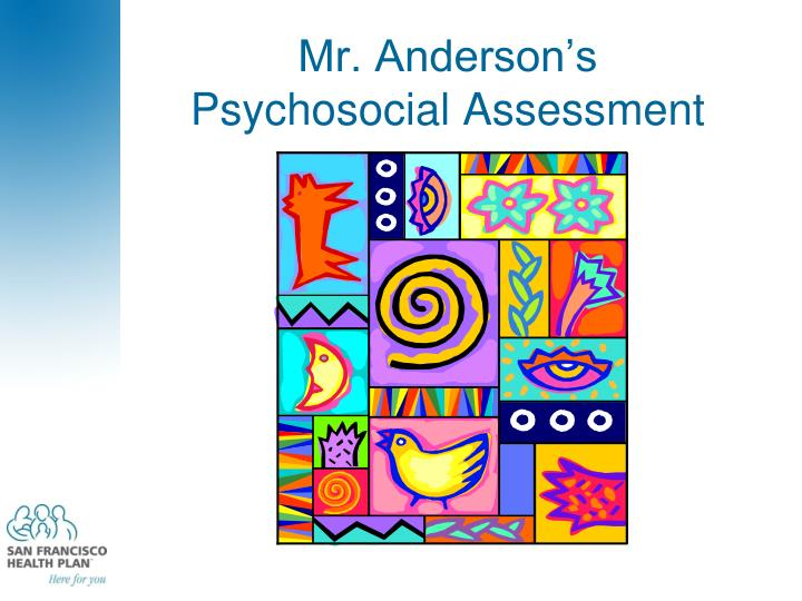 Mr. Anderson's
