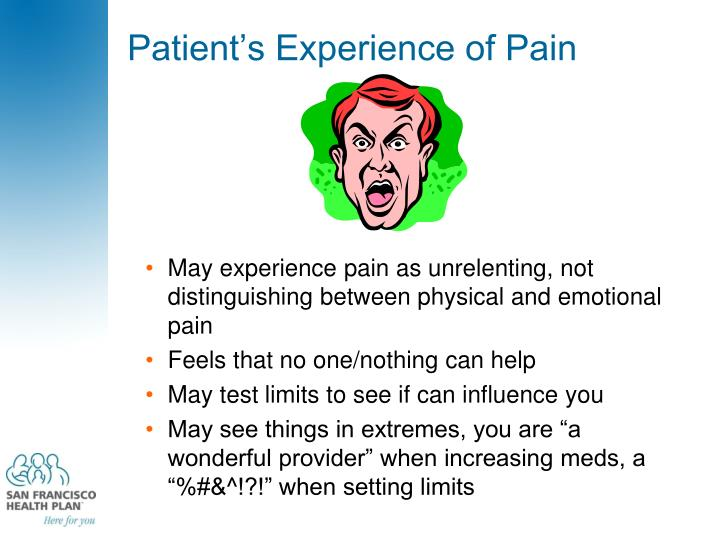 Patient's Experience of Pain