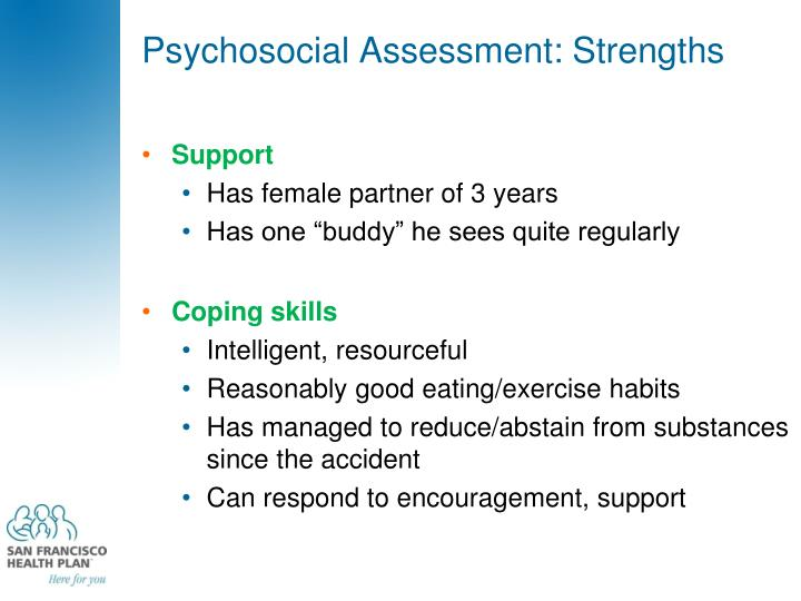 Psychosocial Assessment: Strengths