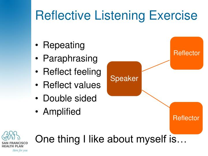 Reflective Listening Exercise