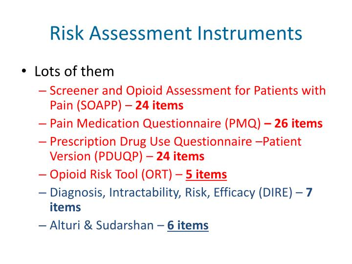 Risk Assessment Instruments