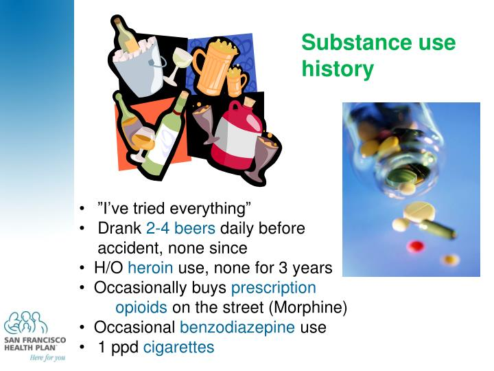 Substance use history