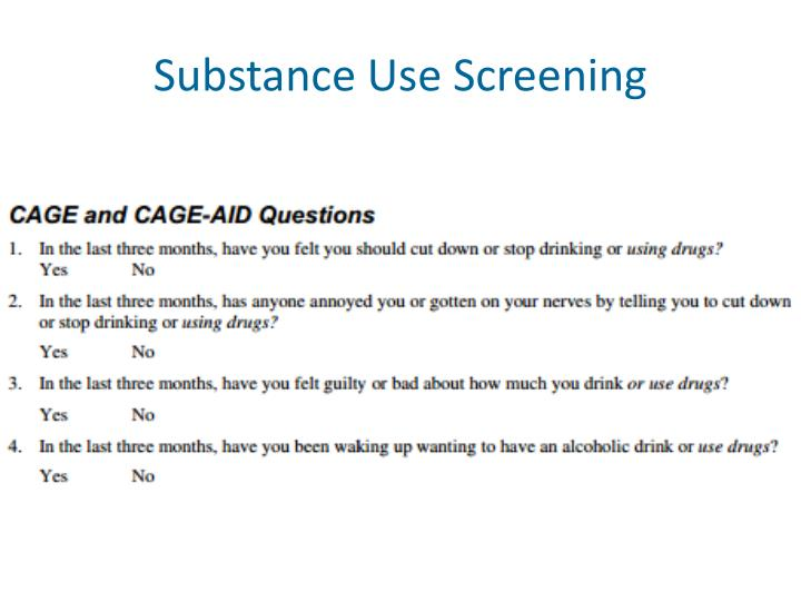Substance Use Screening