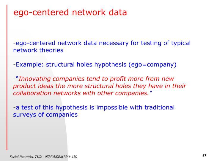 ego-centered network data