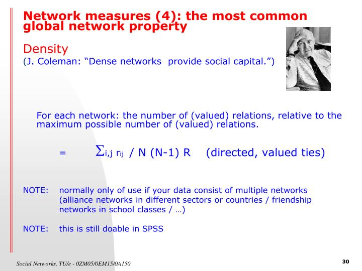 Network measures (4): the most common global network property