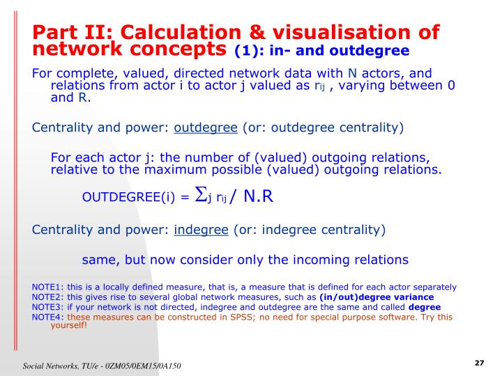 Part II: Calculation & visualisation of network concepts