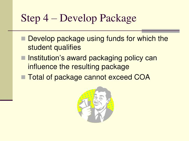 Step 4 – Develop Package