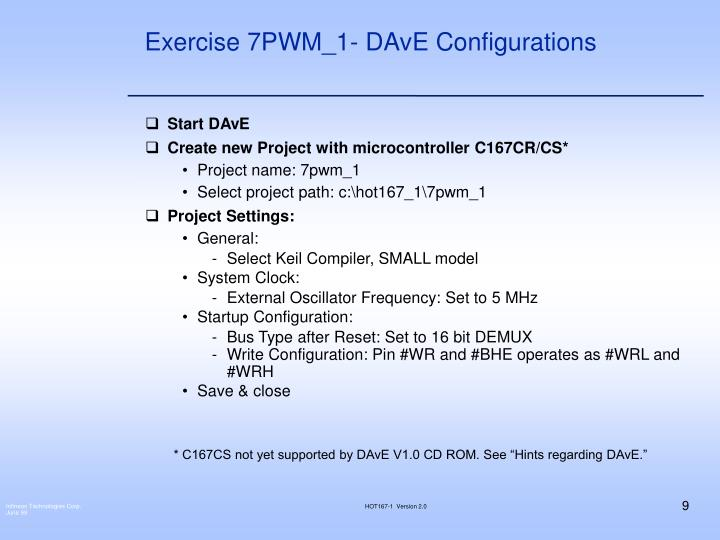 Exercise 7PWM_1- DAvE Configurations