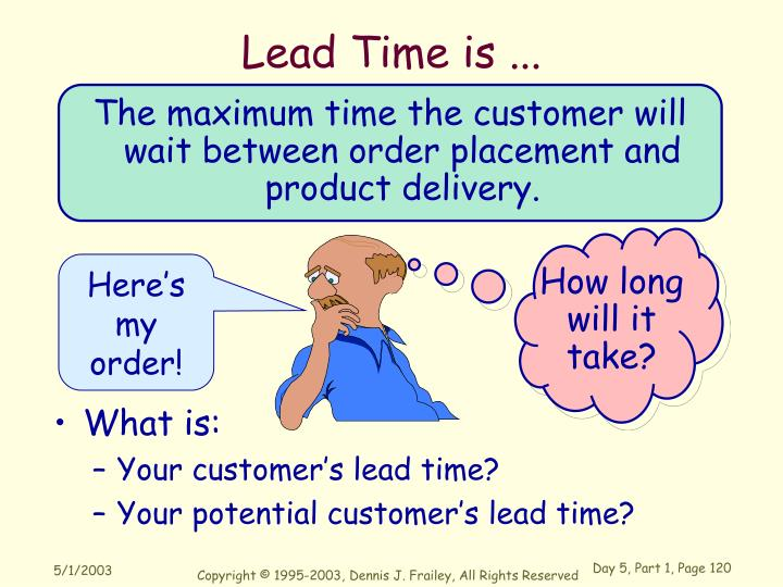 Lead Time is ...