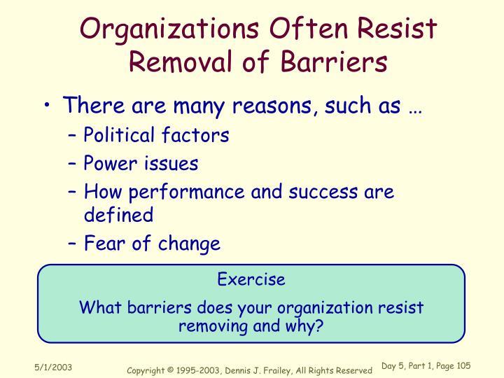Organizations Often Resist
