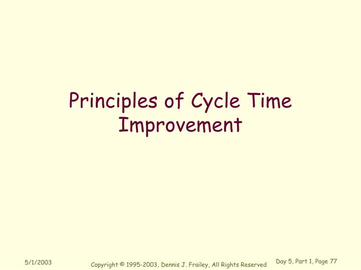 Principles of Cycle Time Improvement