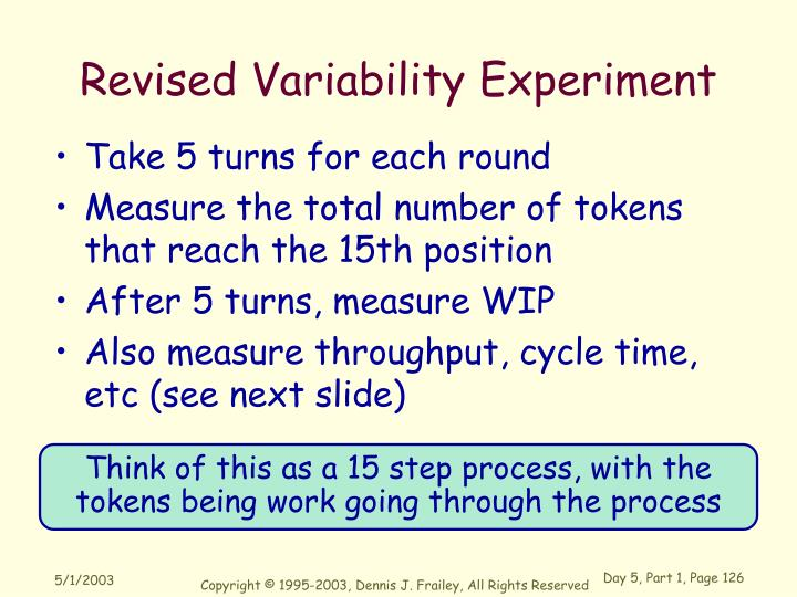 Revised Variability Experiment