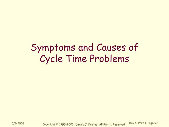 Symptoms and Causes of