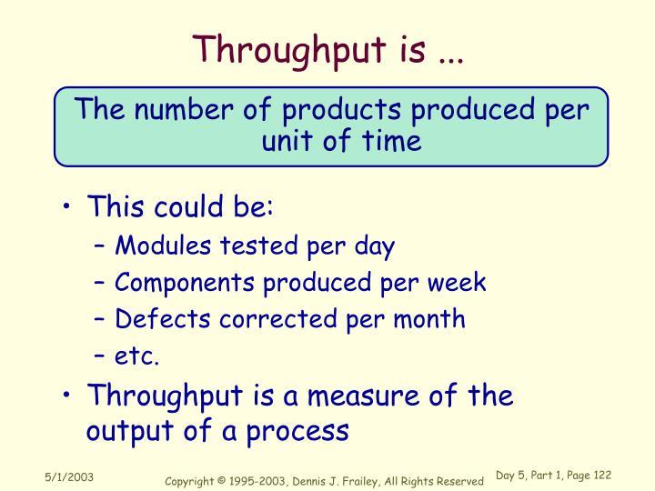 Throughput is ...