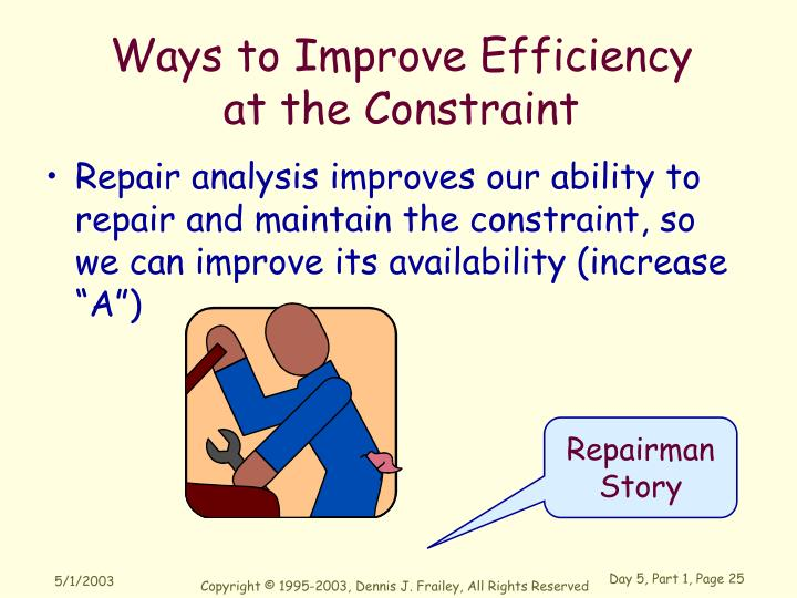 Ways to Improve Efficiency