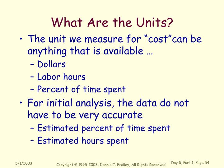 What Are the Units?