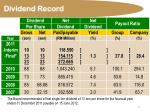 dividend record