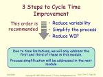 3 steps to cycle time improvement